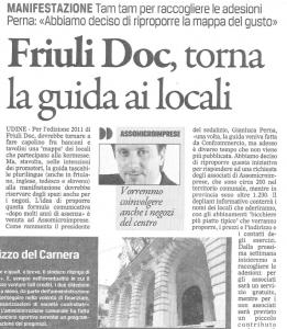 immagine dell'articolo de Il Gazzettino 19 aprile 2011 parte 1 di 2